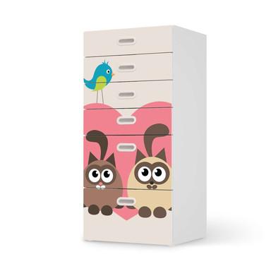 Klebefolie IKEA Stuva / Fritids Kommode - 6 Schubladen - Cats Heart- Bild 1