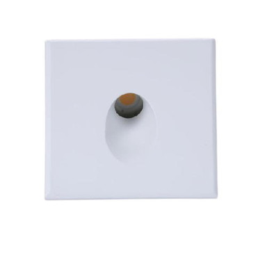 LED Einbaustrahler mit Cover eckig Wall in Weiss 3W 140lm IP44 r