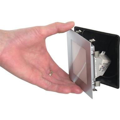LED Panel silber 2700K warmweiss 24 LED 35W inkl. Vorschaltgerät