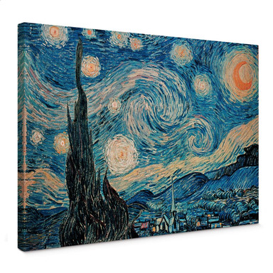 Leinwandbild van Gogh - Sternennacht 1889
