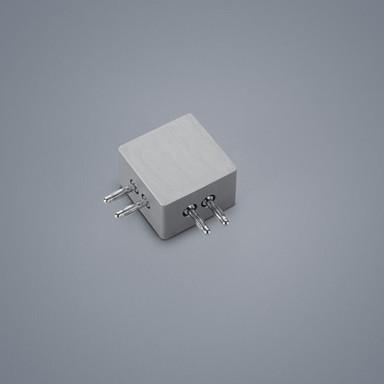 Lichtschienen 90°-Verbinder Vigo in nickel-matt