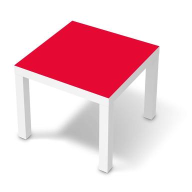 Möbelfolie IKEA Lack Tisch 55x55cm - Rot Light