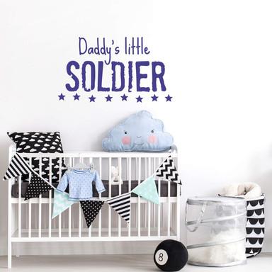 Wandtattoo Daddy's little Soldier