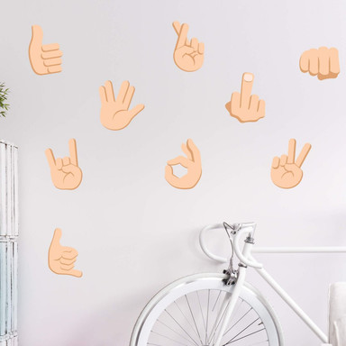 Wandtattoo Emoji Hand Signs