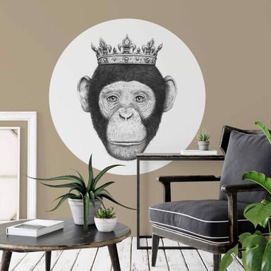 Wandtattoo Korenkova - The King Monkey - Rund