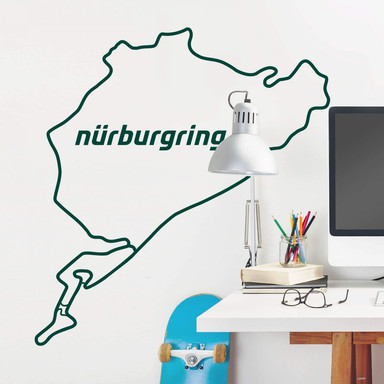 Wandtattoo Nürburgring Streckensilhouette komplett