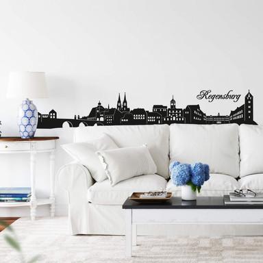 Wandtattoo Regensburg Skyline