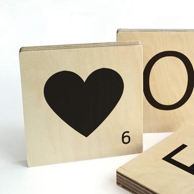 Buchstabensteine Herz