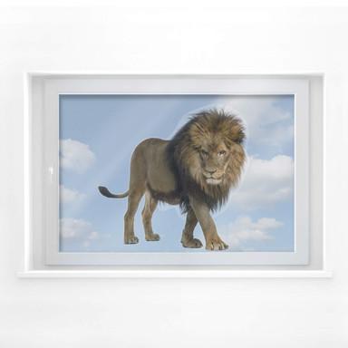 Fensterbild Real Lion
