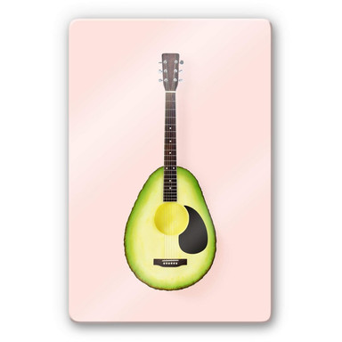 Glasbild Fuentes - Avocado Gitarre
