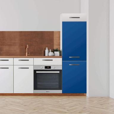 Klebefolie - Hochschrank (60x180cm) - Blau Dark- Bild 1
