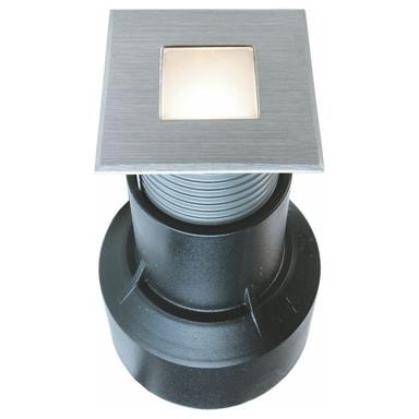 LED Bodeneinbauleuchte Basic Square in Silber 0.55W 14lm 3000K