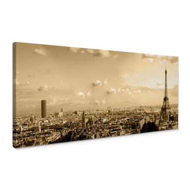 Leinwandbild Paris Skyline