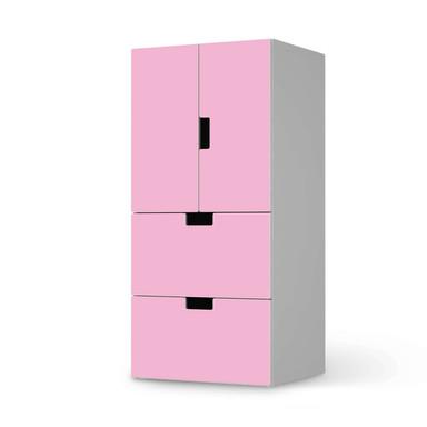 Möbelfolie IKEA Stuva / Malad - 2 Schubladen und 2 kleine Türen - Pink Light