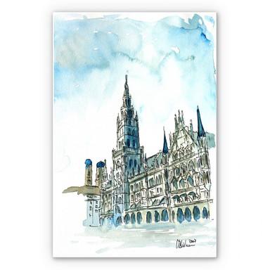 Wandbild Bleichner - Münchener Rathaus