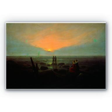 Wandbild Friedrich - Mondaufgang über dem Meer