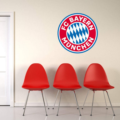 Wandsticker FC Bayern München Logo ohne Sterne