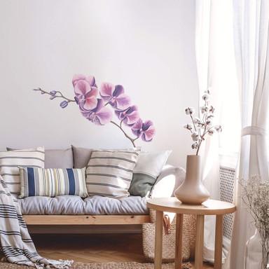 Wandtattoo Orchideenzweig Watercolor
