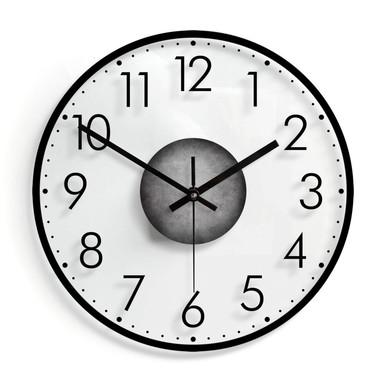 Wanduhr aus Glas - Modern mit Minutenanzeige 02 - Ø30cm