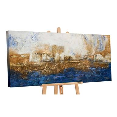 Acryl Gemälde handgemalt Marine 140x70cm