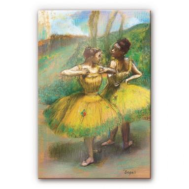 Acrylglasbild Degas - Zwei Tänzerinnen in gelb