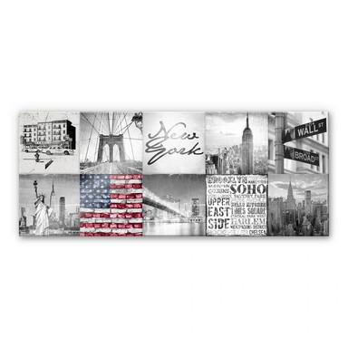 Acrylglasbild Impressions of New York City - Panorama