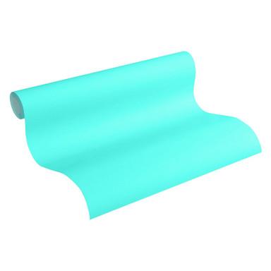 Esprit Vliestapete Tapete Uni blau, grün