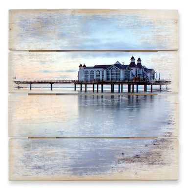 Holzbild Seebrücke Sellin