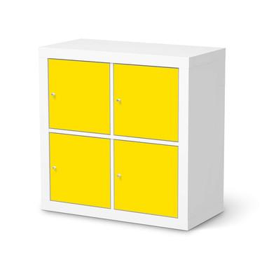 Klebefolie IKEA Kallax Regal 4 Türen - Gelb Dark