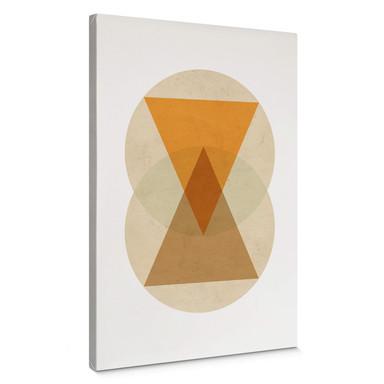 Leinwandbild Nouveauprints - Circles and triangles orange and brown