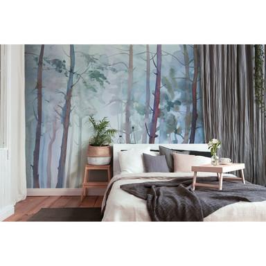 Livingwalls Fototapete Designwalls Aquarelle Fores Wald
