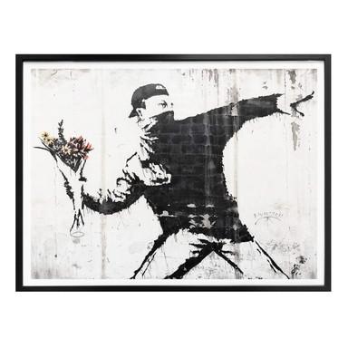 Poster Banksy - Der Blumenwerfer