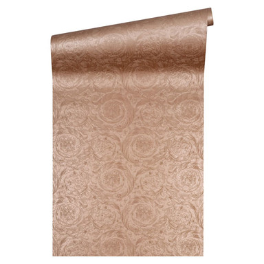 Versace wallpaper Vliestapete Barocco Metallics Tapete metallic kupfer