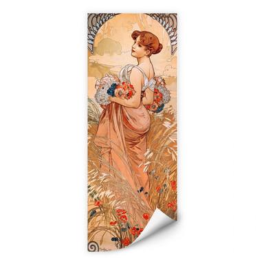 Wallprint Mucha - Jahreszeiten: Der Sommer 1900