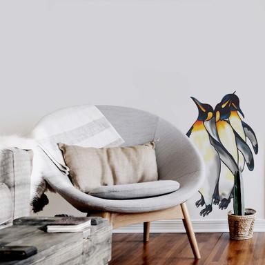 Wandsticker Pinguine farbig