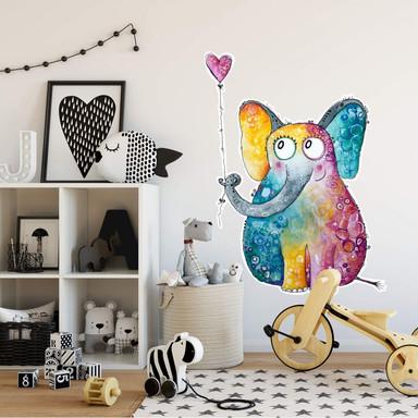 Wandtattoo Hagenmeyer - Elefant mit Herz