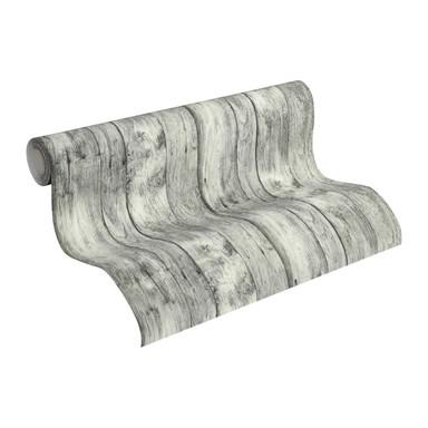 Vliestapete Premium Wall Tapete in Vintage Holz Optik grau, schwarz, weiss