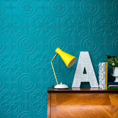 Anaglypta® Egon Luxuriöse strukturierte Vinyltapete überstreichbar, weiss