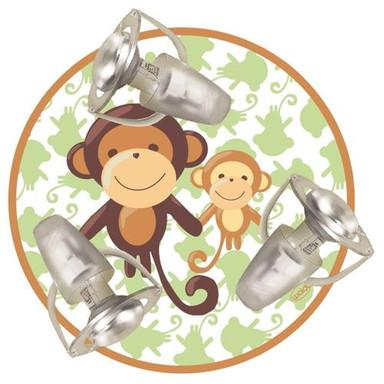 Farbenfrohe Deckenleuchte Affe 3 flammig