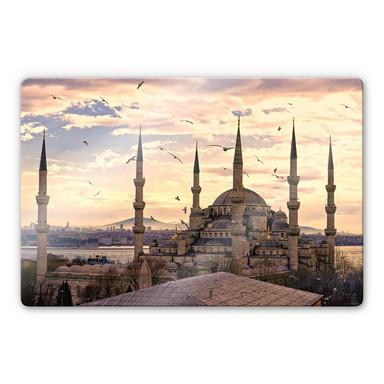 Glasbild Blaue Moschee