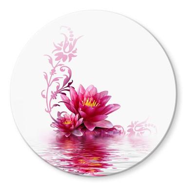 Glasbild Blütenzauber - rund