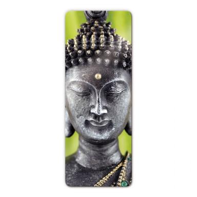 Glasbild Green Buddha - Panorama