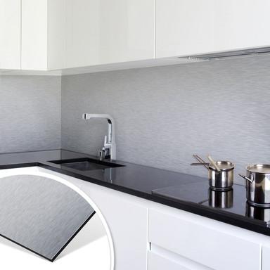 Küchenrückwand - Alu-Dibond-Silber