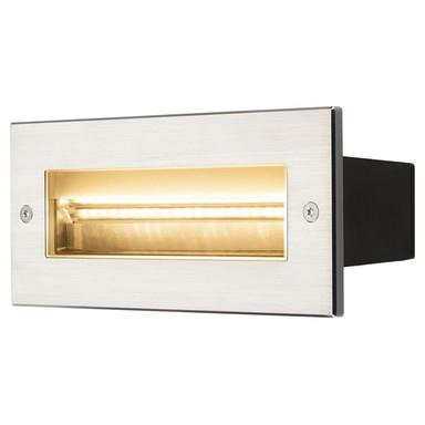 LED Wandeinbauleuchte Brick, IP65. Aluminium, asymmetrisch