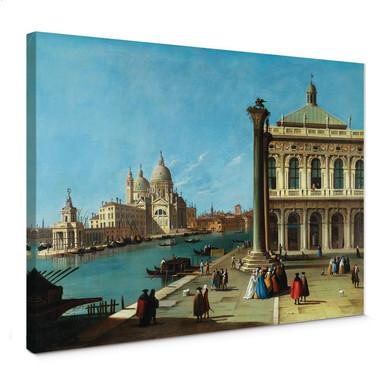 Leinwandbild Canaletto - Die Einfahrt zum Canal Grande