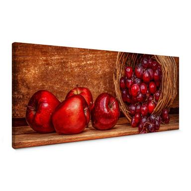 Leinwandbild Perfoncio - Rote Früchte - Panorama