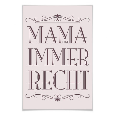 Poster Mama hat immer Recht - 02