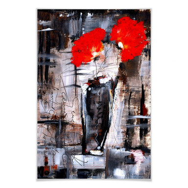 Poster Niksic - Leuchtend Rot