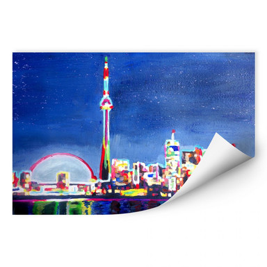 Wallprint Bleichner - Toronto im Neonschimmer