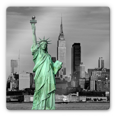 Glasbild Statue of Liberty - quadratisch